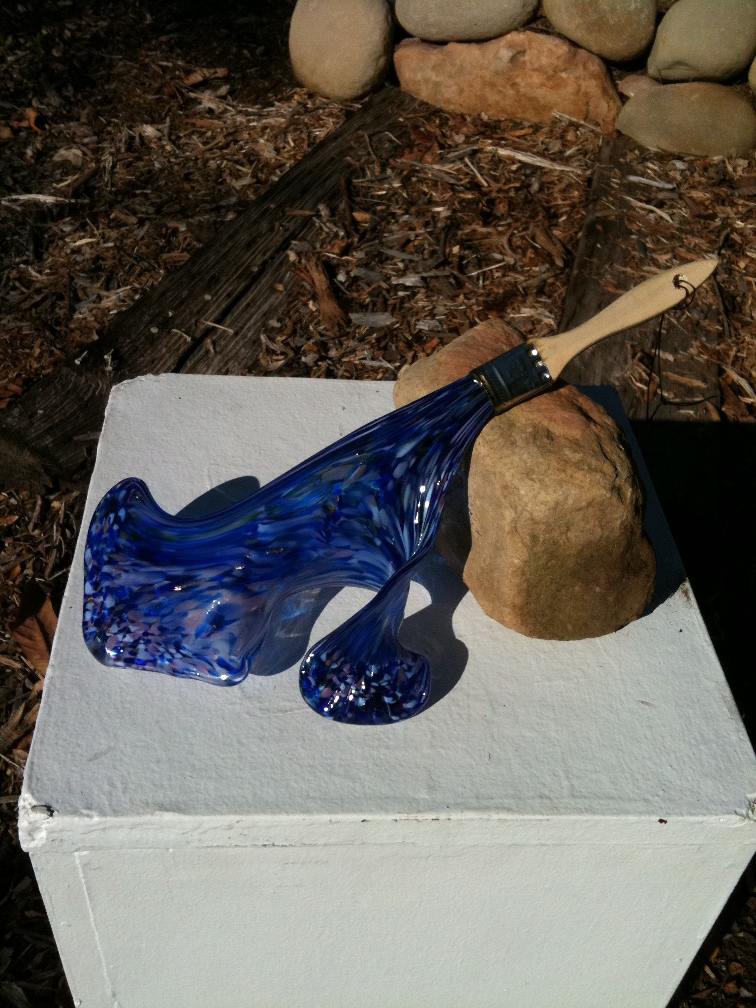 Blue Glass Paint Brush by Teal Rowe view 2